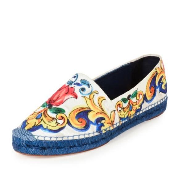 d3b3defa92a Dolce   Gabbana Shoes - Dolce   Gabbana Maiolica tile-print Espadrilles